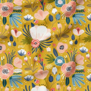 Bio-Jersey - Mustard Flowers