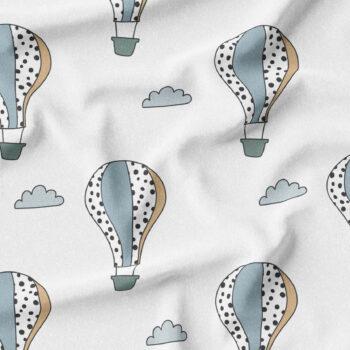 Heißluftballons weiß