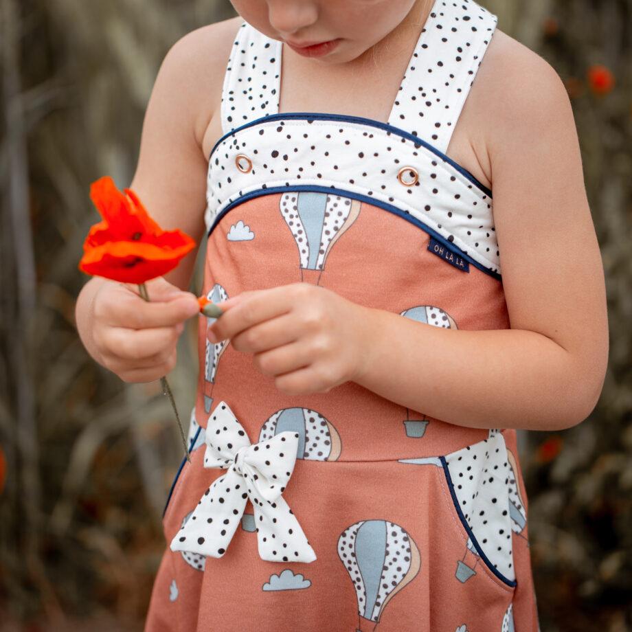 Designbeispiel - Heißluftballons rost + Dotties ecru - Little Miss Bees